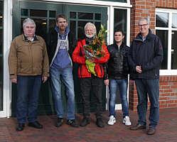 Von links: Wilhelm Brinkmann, Jürgen Strack, Heinz Rosen, Pajtim Klari, Hermann Gerdes