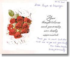 Postkarte von Schwester Ancy P.A.