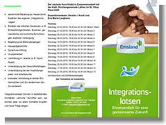 "Flyer zum Kurs ""Integrationslotse"""