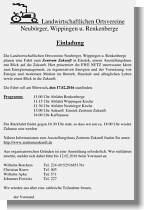 Flyer zur Fahrt der landwirtschaftlichen Ortsvereine nach Emstek