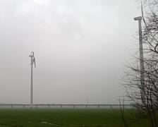 Zerstörter Rotor der Windkraftanlage in Neudörpen