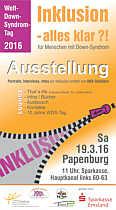 Flyer zur Veranstaltung Inklusion