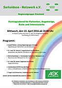 Flyer zum Infoabend über Sarkoidose