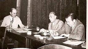 Heinrich Deters auf Vorstandssitzung rechts