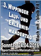 Plakat zum Lauf- und Erlebniswandertag in Wippingen