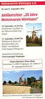 Ankündigung des 25jährigen Jubiläums in Wippingen