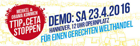 Logo zur Demo in Hannover