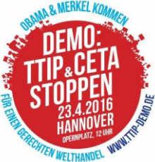 Flyer zur TTIP Demo