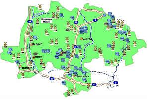 Plan Mühlen in Niedersachsen