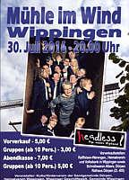 Flyer zum Headless-Konzert