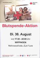Blutspenden am 30. August 2016