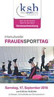 Flyer zum FrauenSportTag