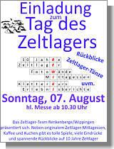 Flyer zum Tag des Zeltlagers