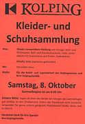 Flyer zur Kolping-Sammlung