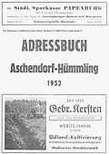 Wippinger Adressbuch 1952