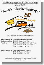Plakat zur Theateraufführuzng in Renkenberge