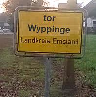 Ortsschild Tor Wyppinge