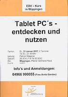 Plakat der KEB zum Tablet-Kurs