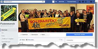 Facebookseite zum Fastenmarsch