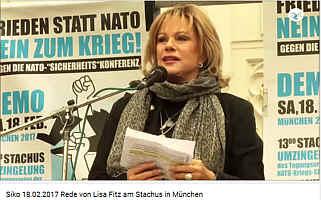 Rede von Lisa Fitz auf der Demo gegen die Münchener Sicherheitskonferenz