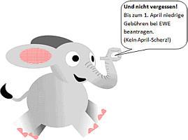 Elefant mit Sprechblase