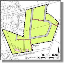 Planentwurf für neues Baugebiet