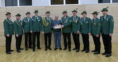 Der Vorstand mit Heinz Siemer
