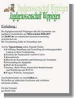 Einladung der Jagdgenossenschaft Wippingen 2017