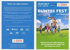 Flyer zum Bunten Fest