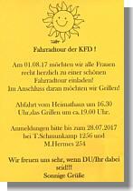 Einladung des KfD
