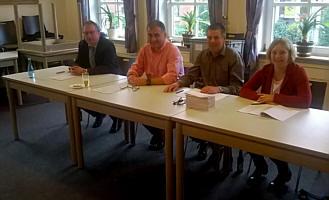 v. l.: Bernhard Gerdes, Norbert Westhoff, Hannes Grote, Margot Richert