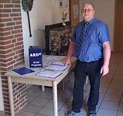 Mitarbeiter der ARD bei der Datensammlung für die Prognose