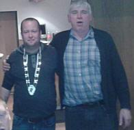 Links Dirk Baalmann, rechts Schützenvereinsvorsitzender Josef Speller
