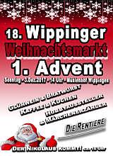 Flyer zum Weihnachtsmarkt