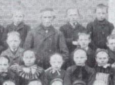 Klassenfoto mit Johann Tangen aus dem Jahr 1891