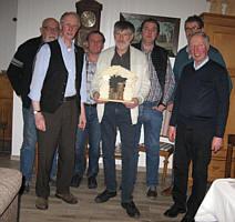 von links: Heinz Schulte, Bernd Kuper, Otto Gerdes, Hermann Bicker, Wilfried Schmunkamp, Heiner Voßkuhl, Klaus Abeln