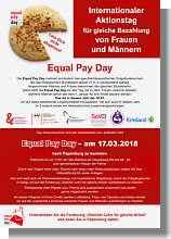 Flyer zum Equal Pay Day