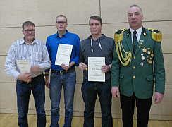 Hans Hermann Lampen, Martin Johanning, Frank Düttmann, Oberst Antonius Hempen