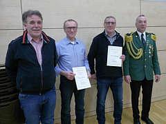 Alois Timmer, Hermann Jansen, Bernd Schwering, Oberst Antonius Hempen
