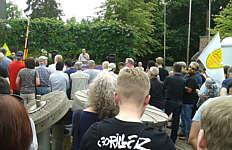 Gegen-Demo gegen AFD Kundgebung Papenburg