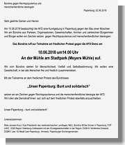 Aufruf zur Gegen-Demo gegen AFD Kundgebung Papenburg