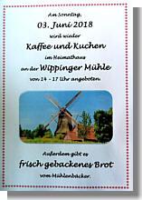 Flyer zum Kaffee und Kuchen im Heimathaus