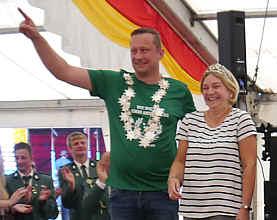 Königspaar Marco und Margot Richert