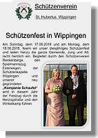 Flyer des Schützenvereins