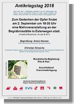 Flyer zur Mahnveranstaltung des DGB