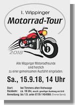 Flyer zum Motorradtreffen