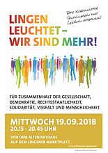 Plakat zur Demo in Lingen