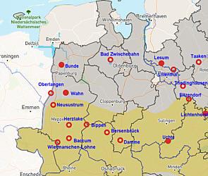 Atommüllstandorte im Emsland, Quelle: Ausgestrahlt.de