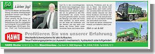 Anzeige in der Ems-Zeitung vom 1.11.2018