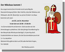 Flyer des Nikolausvereins